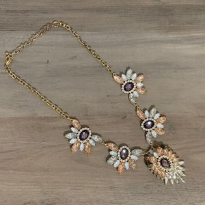 Jewelry - Bling Jewel Statement Necklace gray, white, peach